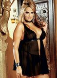 ItspleaZure Black Sexy Nightwear Lace Babydoll For women for  at itspleaZure
