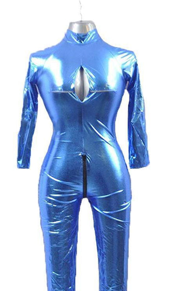 ItspleaZure Blue Polyester Sexy Full Body Jumpsuit For women for  at itspleaZure