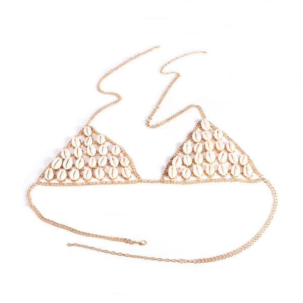 ItspleaZure Shells Bra Body Chain - Golden for  at itspleaZure