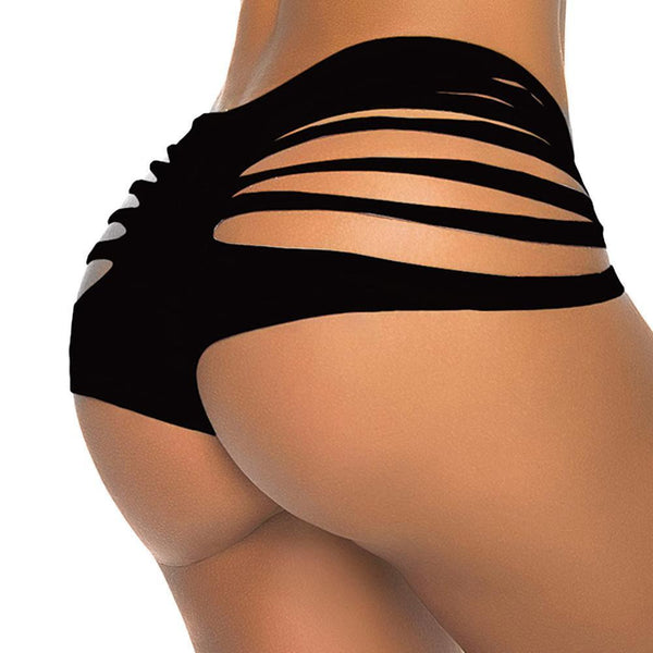 ItspleaZure Thong ItspleaZure Casual Black Cut Out Girl Bikini Bottom