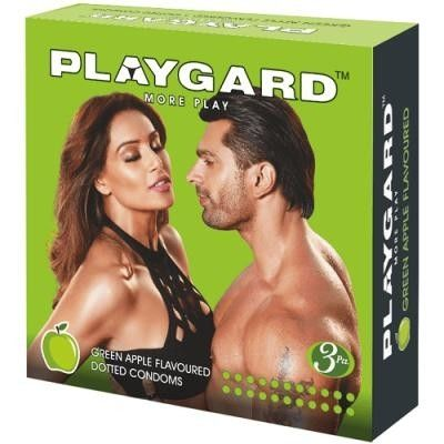 PLAYGARD Green Apple Flavoured Pack of 3