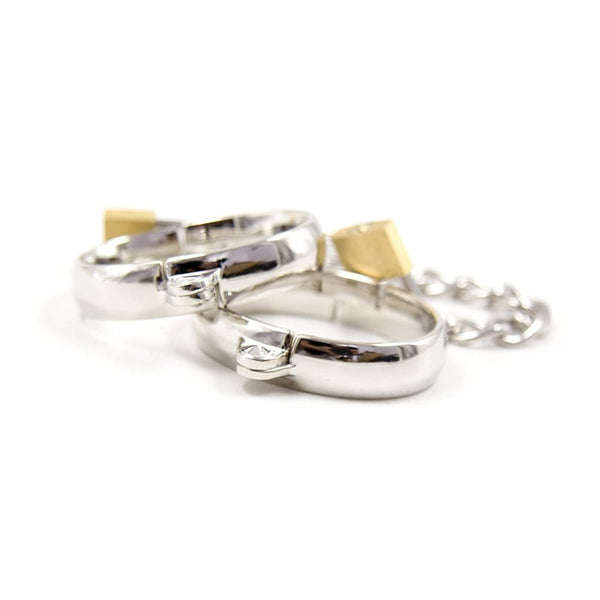 Buy ItspleaZure Lockable Shackles Metal Hand Cuffs Ankle Cuffs for  at itspleaZure