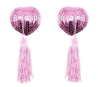 ItspleaZure Sweetheart Sequin Pasties With Tassel-Pink for  at itspleaZure