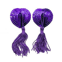ItspleaZure Sweetheart Sequin Pasties With Tassel-Purple for  at itspleaZure
