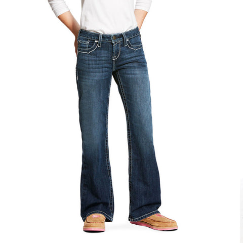 Girl's Ariat REAL Entwined Boot Cut Denim Jeans