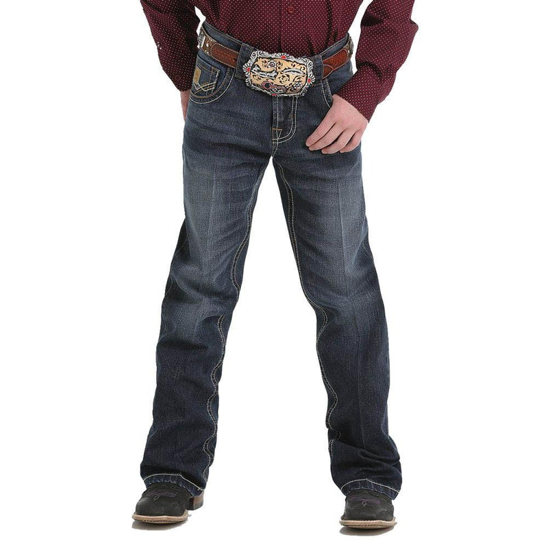 Cinch Western Jeans Boys Relaxed Stretch Tint Medium Wash