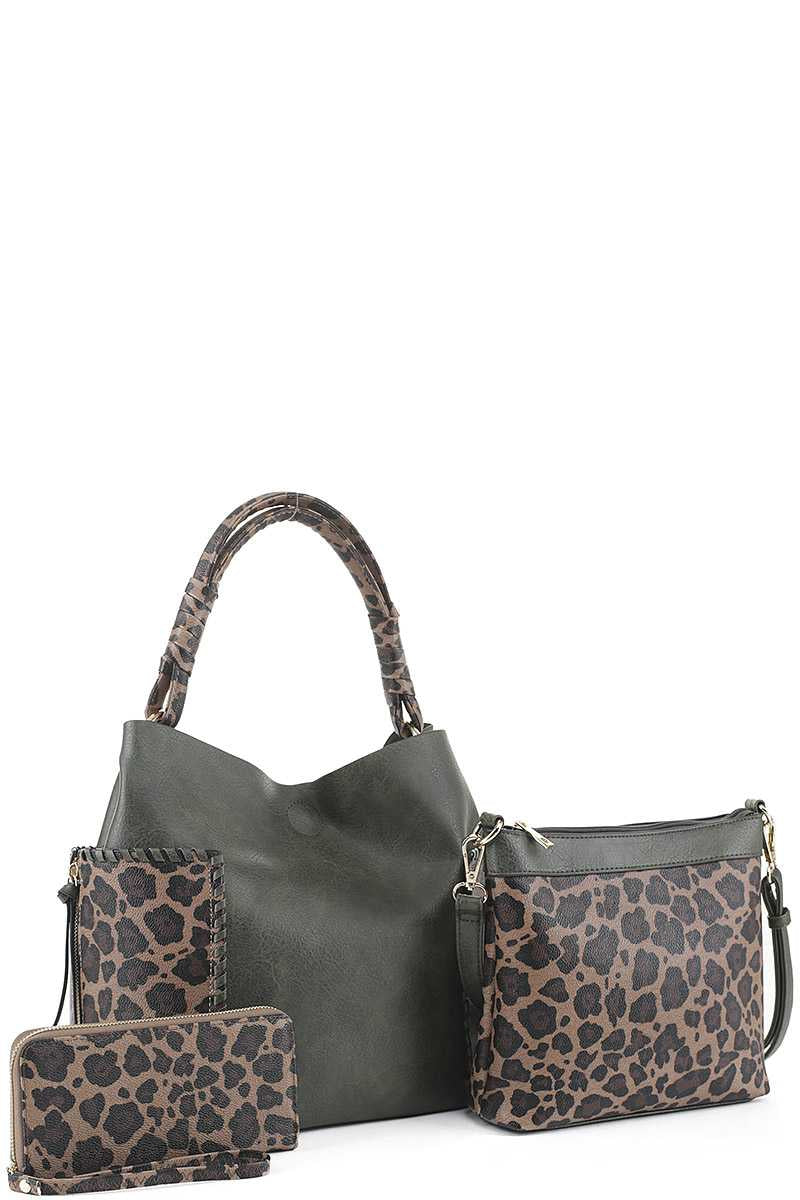 3IN1 Fashion Two Tone Leopard Print