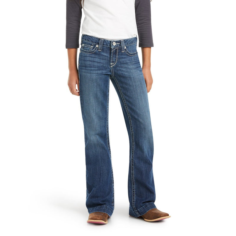 Girl's Ariat Real Charlotte Chill Blue Trouser Jeans