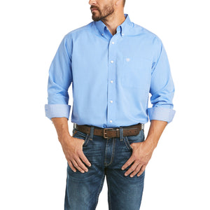 Men's Ariat Wrinkle Free Solid Pinpoint Oxford Classic Fit Shirt