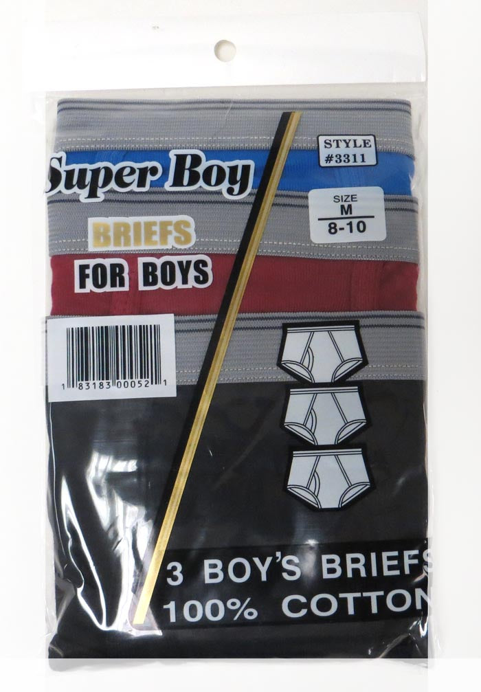 Boy`s Briefs Color Mixed Pack