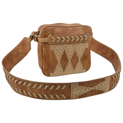 Catchfly COURTNEY Crossbody Aged Saddle