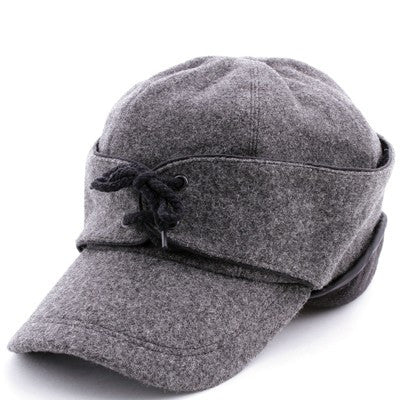 Mens Wool Cap with Ear Flaps - Keffeler Kreations | HilltopBoutique.com - 1