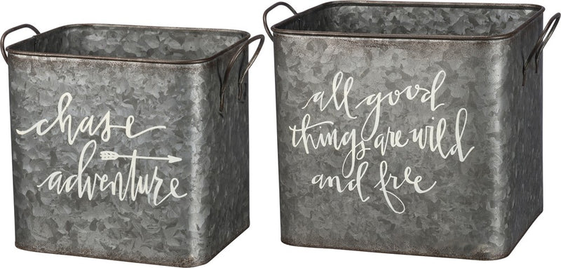 Wild & Free/ Chase Adventure Metal Bins