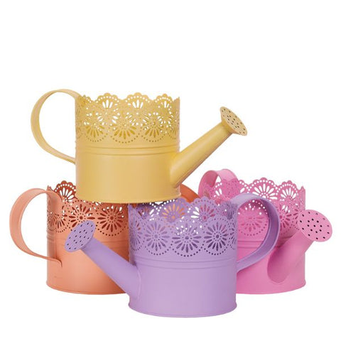 Scalloped Decorative Metal Watering Cans