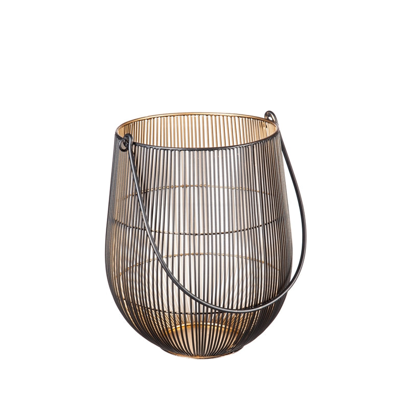 Home Decor - Mesh Lantern with Black Handle