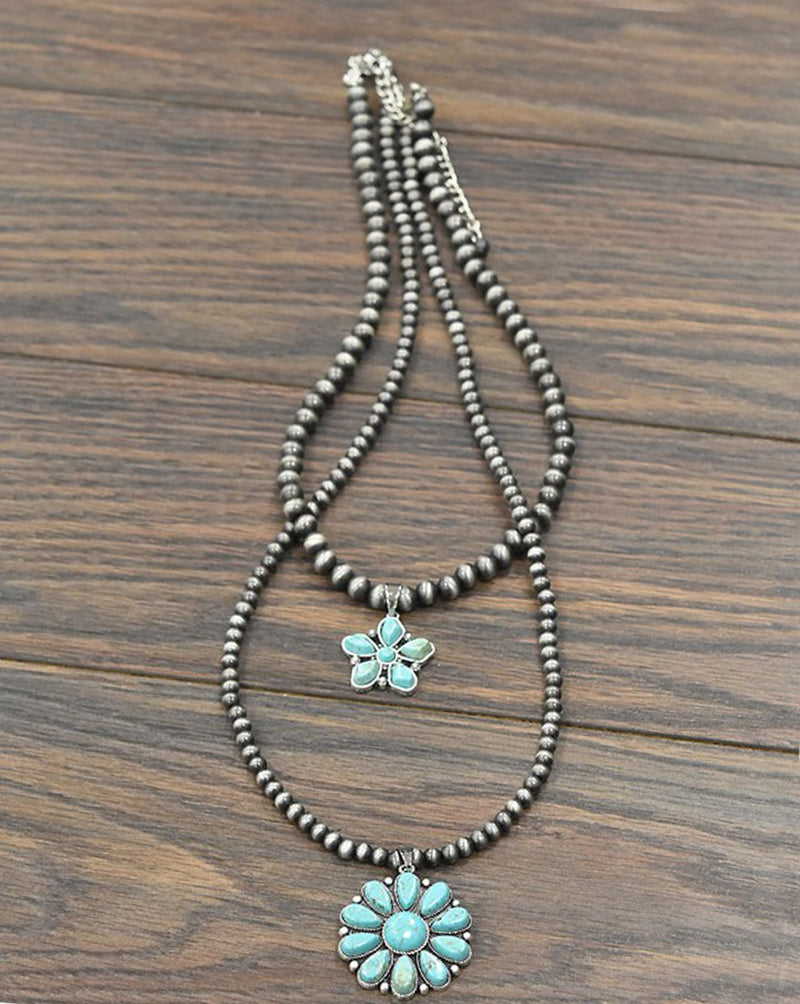 "30"" Long, Natural Turquoise Necklace"