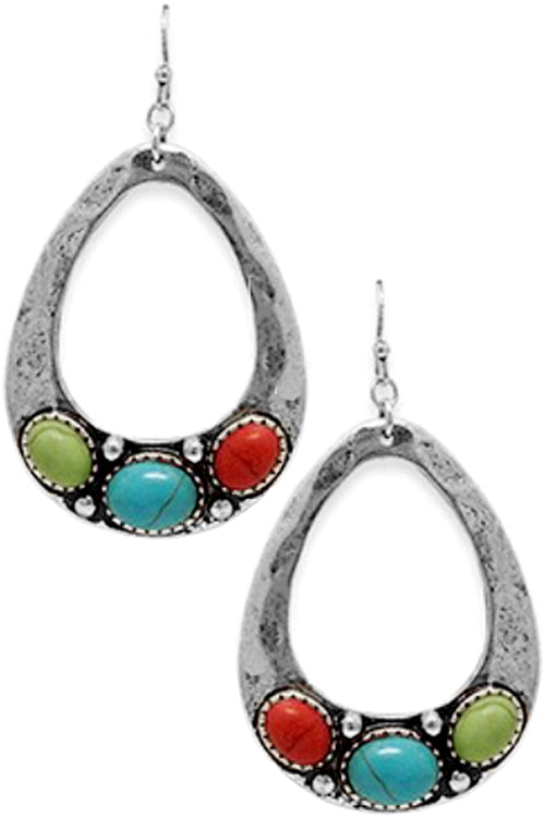 Multi Teardrop Dangling Earrings