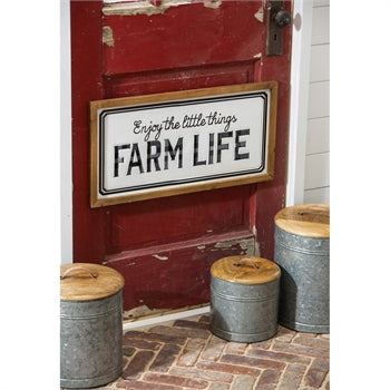 Farm Life Metal and Wood Wall Decor