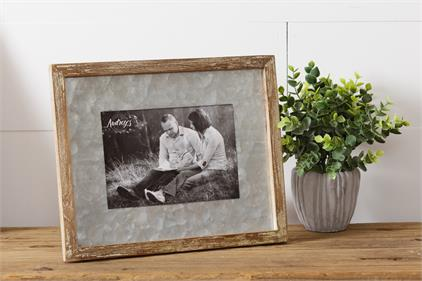 Galvanized Mat Picture Frame