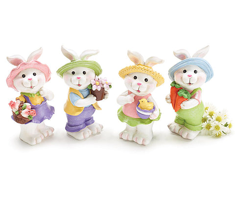 Resin Garden Bunny Figurines