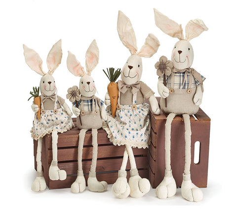 Long Leg Fabric Bunny Family
