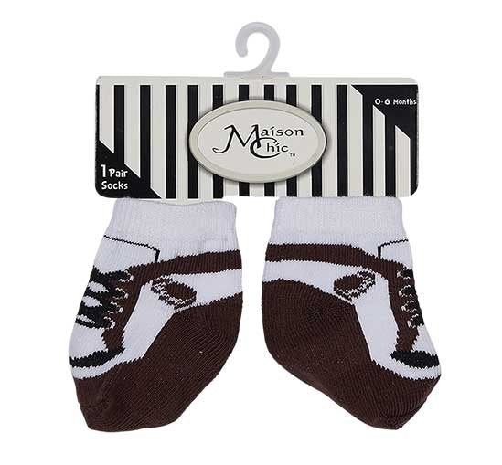 Brown & White Sneaker Football Socks