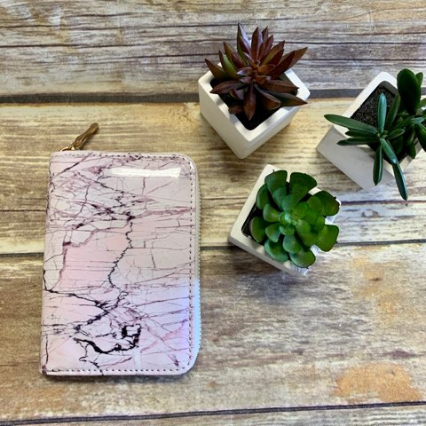 Pink Marble Mini Wallet