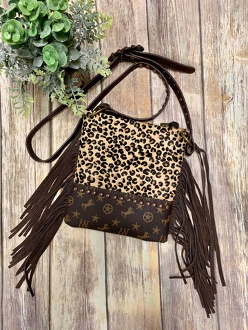 Montana West Leopard Crossbody Purse