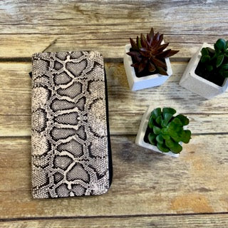 Animal Print Zipper Wallet