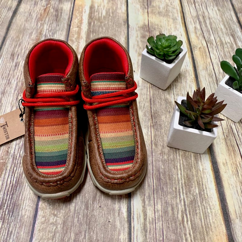 Girl's/Toddler Twister Serape Moccasin Shoes - Serenity