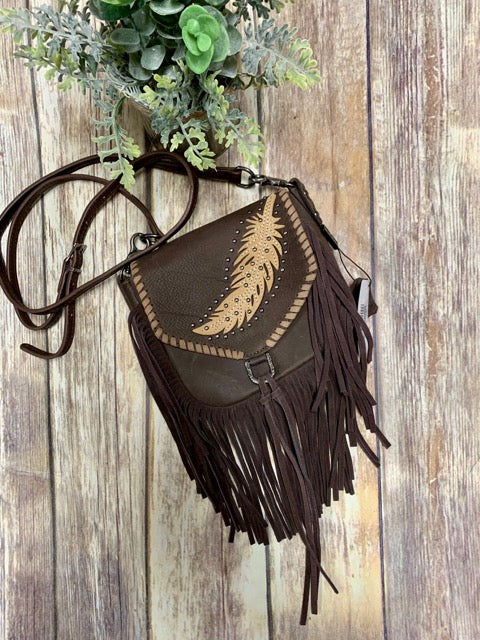 Montana West Feather Crossbody Purse