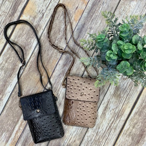 Faux Gator Crossbody Purse