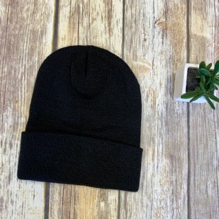 Men's Richardson Black Knit Stocking Hat