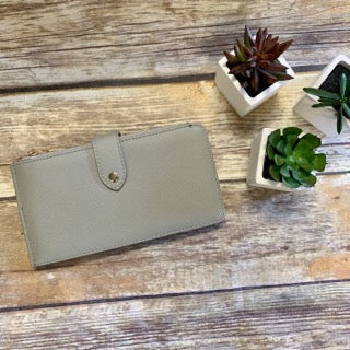 Gray Bifold Leather Wallet