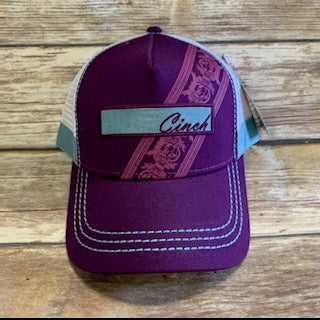 Women's Cinch Purple Trucker Cap