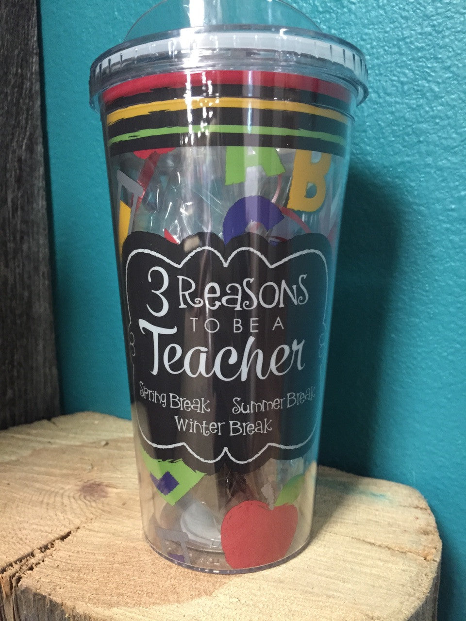 "Travel Cup ""3 Reasons To Be A Teacher"" - Keffeler Kreations 