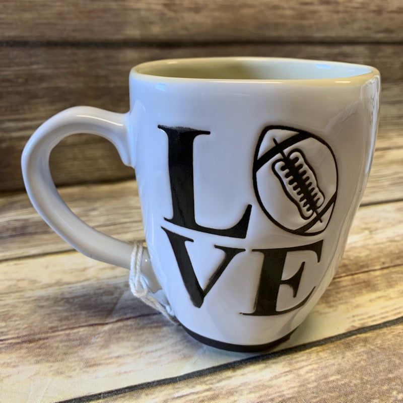 Love Football Ceramic Cup