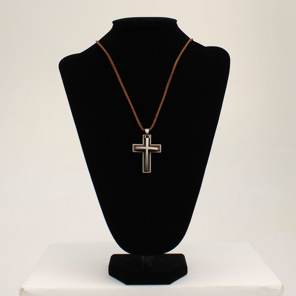Twister Necklace Rope Double Cross