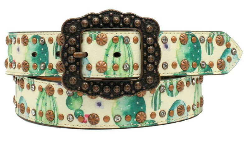 Women's Angel Ranch Cactus Flower Print Belt