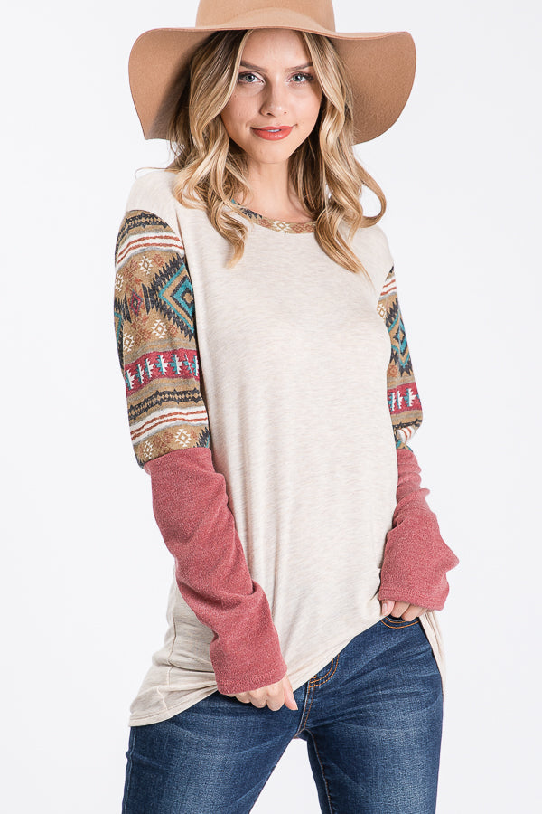 Women's Southern Aztec Thermo Knit Top