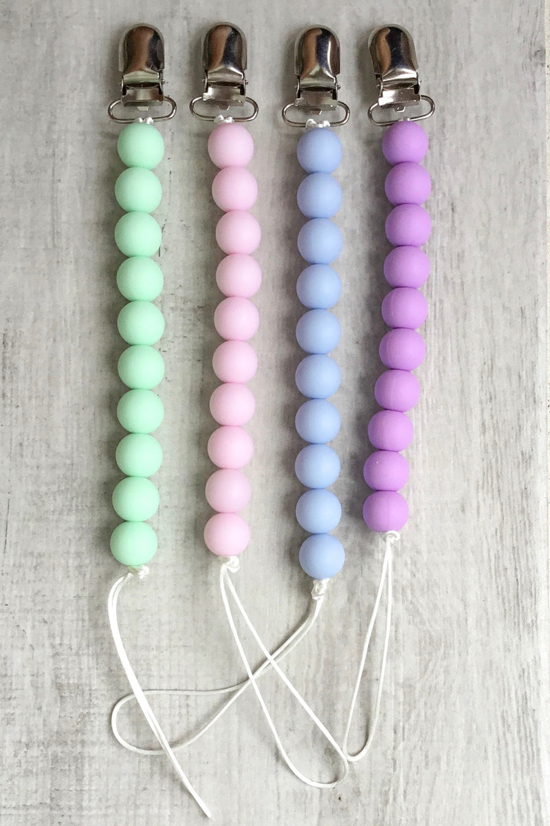 Silicone Bead Pacifier Clips