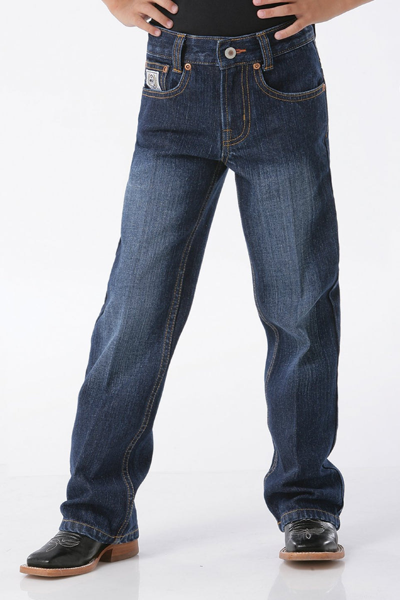 Boy's Cinch White Label Dark Stonewash Denim Jean