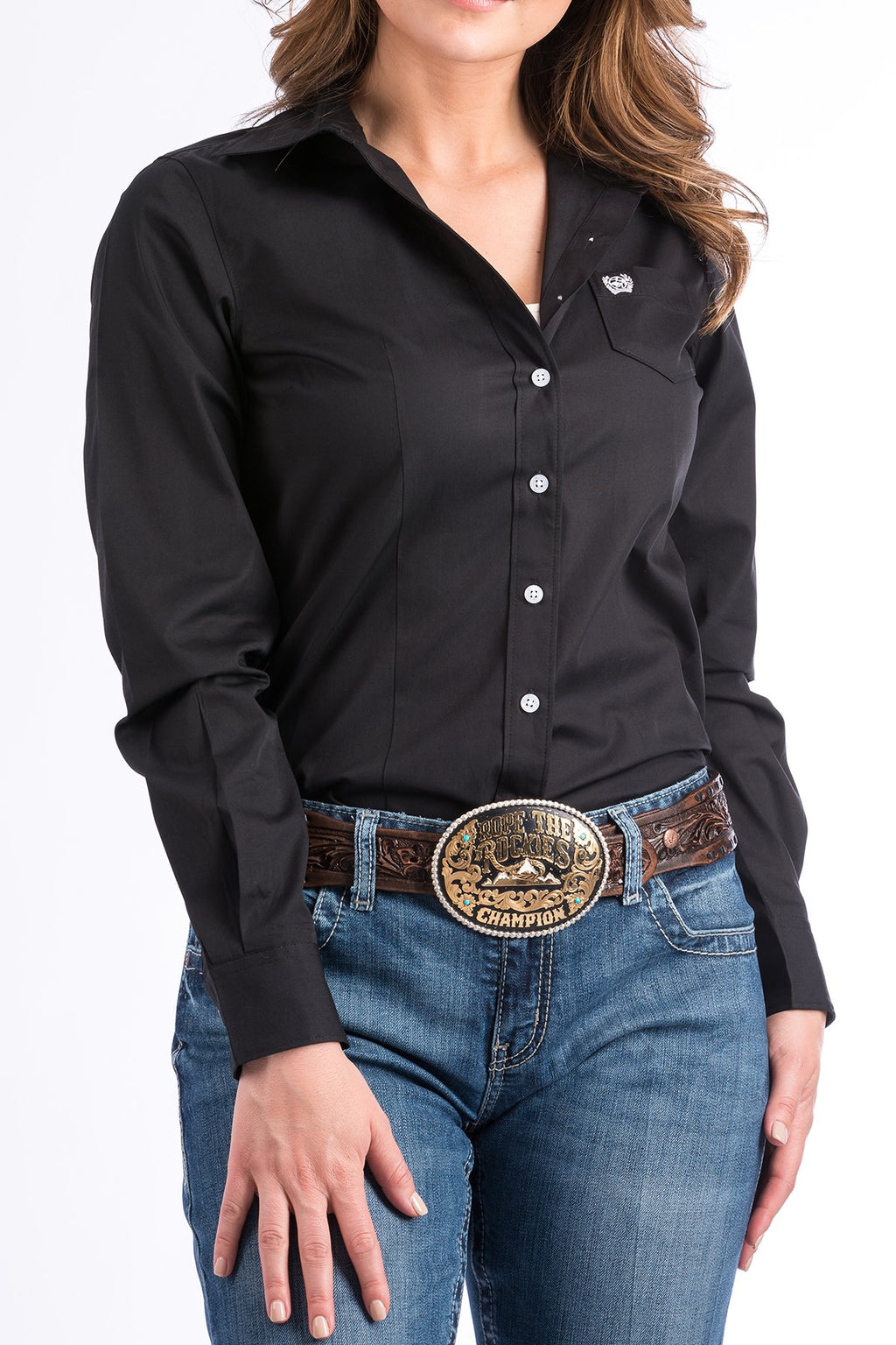 Women's Cinch Solid Black Western Shirt