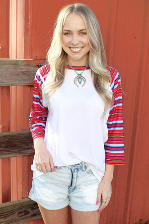 Women's Coyote Cowgirl 3/4 Sleeve Raglan Tee