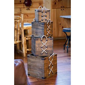 Greystone Wood Crates - Keffeler Kreations | HilltopBoutique.com