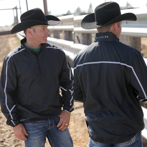 Cinch Mens Reflective Windbreaker 1/2 Zip - Keffeler Kreations | HilltopBoutique.com