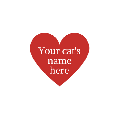Big Brother or Sister Hearts - customized with your cat's name