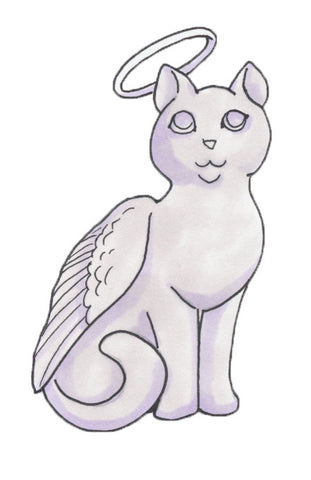Guardian Angel - customized with your cat's name