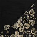 Fashion Embroidered Lilies Floral Large Scarf