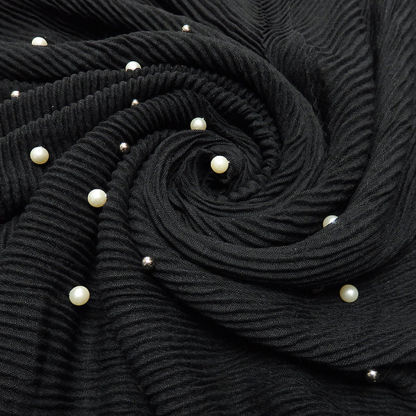Two tone pearls pleated